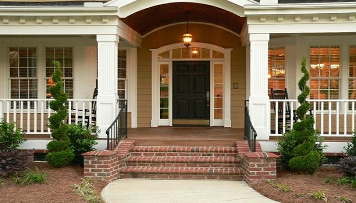 main entrance of home